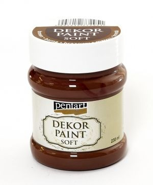 Dekor paint, soft 230 ml - brown P21655