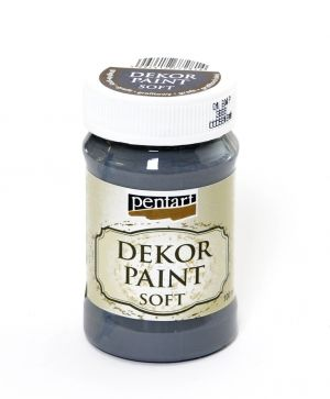 Dekor paint, soft 100 ml - graphite - grey P21641