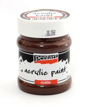 Acrylic paint matte 230 ml - dark brown P3238