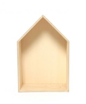 Wooden shelf, house shape 16х24cm - IDEA1120