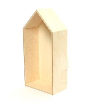 Wooden shelf, house shape 14х29,5cm - IDEA1121