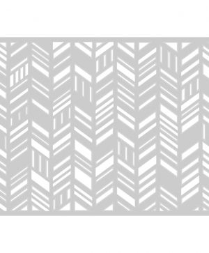 Sizzix Thinlits Die - Card Front, Fancy Chevrons 660106