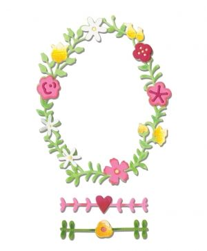 Sizzix Thinlits Die Set 3PK - Floral Wreath #2 660366