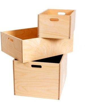 Wooden storage box 30х20х14cm - IDEA1181