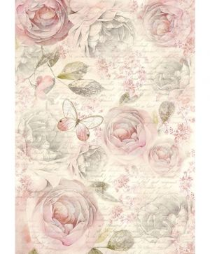 Decoupage Rice Paper A4 - Shabby roses DFSA4158