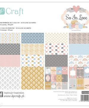 "Paper pad 12""x12"" - So in love PYDU-008"