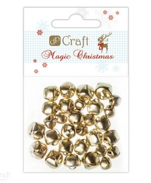 Craft bells assorted 30pcs - Gold MCDZ-001