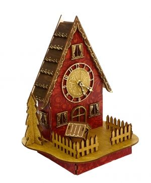 Wooden Christmas house, disassembled - IDEA1191