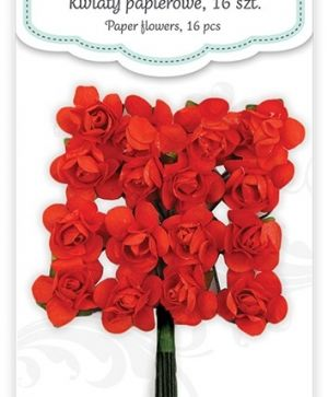 Paper flowers 16 pcs - Spice red CEKP-018