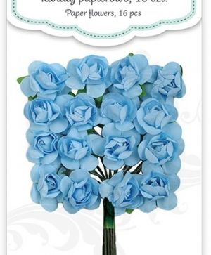 Paper flowers 16 pcs - Blue sky CEKP-020