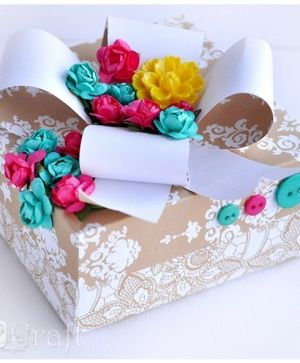Paper flowers 16 pcs - Turquoise CEKP-023