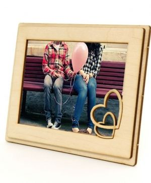 Wooden frame Tangled hearts - IDEA1147