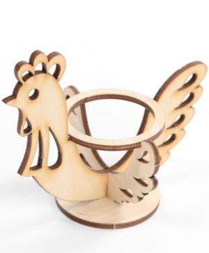 Wooden stand for egg - chiken IDEAN1276