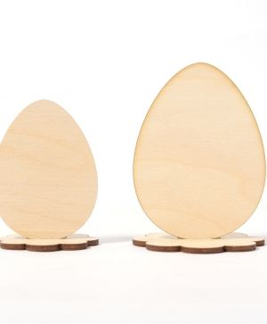 Wooden figurine Egg with stand, 2pcs - IDEA1281