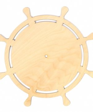 Wooden wall clock base - Ship wheel IDEA1300