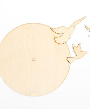 Wooden wall clock base - Dove IDEA1299