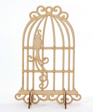 Wooden bird cage - IDEA0989