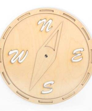 Wooden wall clock base - Compass IDEA1314