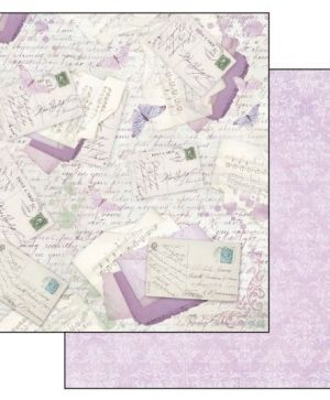 Pack 10 sheets double face 30x30cm - Lilac SBBL21