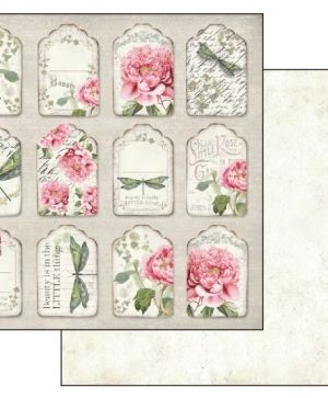 Pack 10 sheets double face 30x30cm -  Letters & Flowers SBBL22