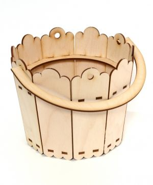 Wooden pot / pail 18х20сm - IDEA1318