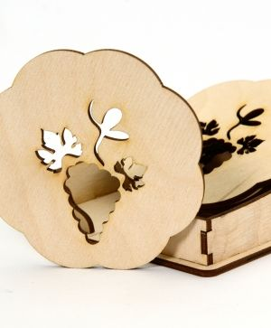 Wooden coasters 6 pcs - IDEA1351