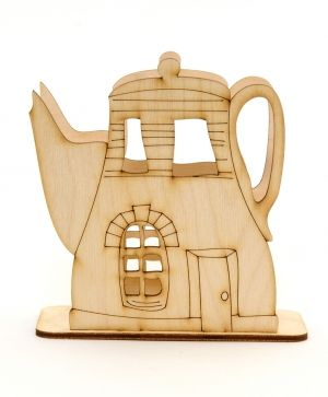 Wooden napkin holder - teapot IDEA1402