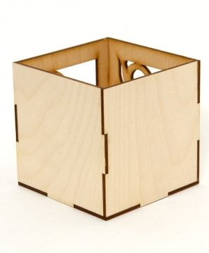 Wooden desk organizer 10х10х16cm - IDEA1408