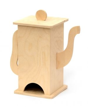 Wooden tea box, vertical - IDEA0755