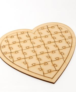 Wooden puzzle, heart - IDEA1417