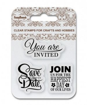 Clear stamps 7x7cm - Save the Date, Wedding SCB4907085