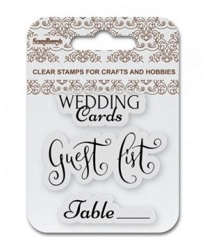 Clear stamps 7x7cm - Wedding cards SCB4907082