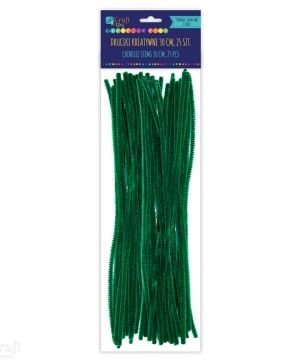 Chenille stems 30cm 25 pcs - Dark green KSDR-024
