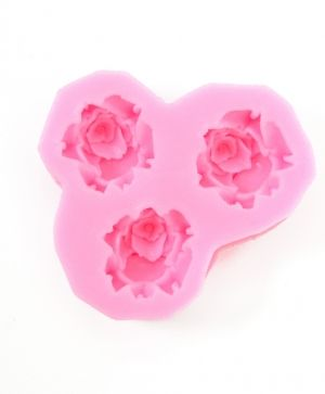 Silicone mold 3 roses P28200