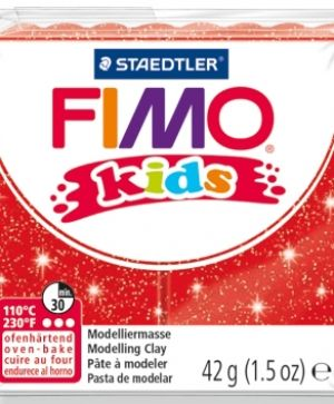 FIMO modelling clay Kids 42g - glitter red G8030212