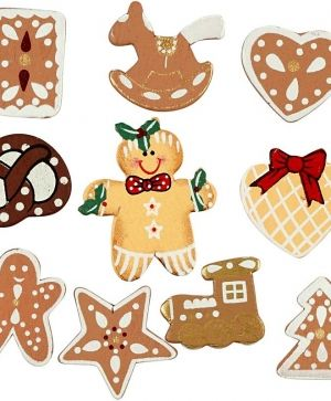 Wooden Shapes 10pcs - Christmas C522580