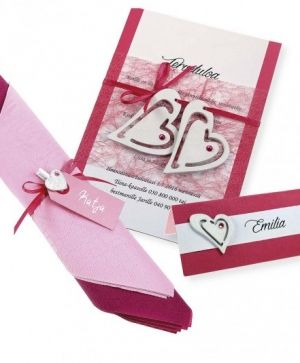 Wooden hearts 20pcs - pink C599217