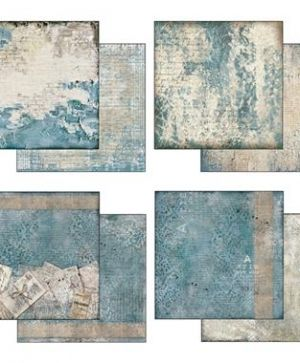 Pack 10 sheets double face 30x30cm - Blues SBBL26