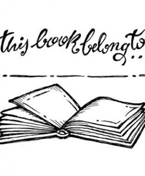 "Acrylic stamp - ""This book belongs to..."" 5x7cm - WTK061"