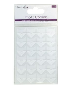 Photo corners 24pcs - White DCCRN001