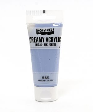Creamy acrylic paint semi-gloss 60 ml - ice blue P27977