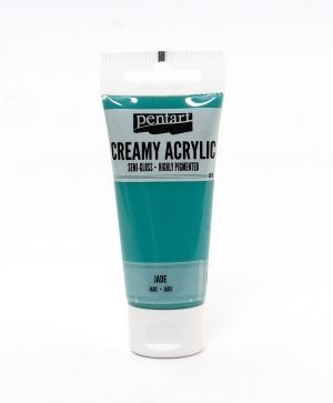 Creamy acrylic paint semi-gloss 60 ml - jade P27985