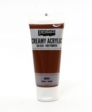 Creamy acrylic paint semi-gloss 60 ml - brown P27929