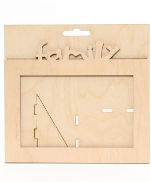 Wooden frame Family - IDEA1436