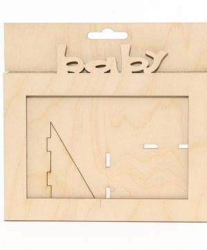 Wooden frame Baby - IDEA1434