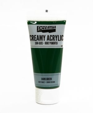 Creamy acrylic paint semi-gloss 60 ml - dark green P27934