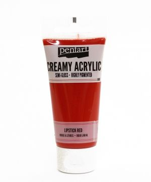 Creamy acrylic paint semi-gloss 60 ml - red lipstick P27961