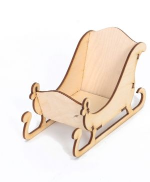 Wooden sleigh - IDEA1225-1