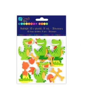 3D foam stickers - Dinosaurus, 14 pcs