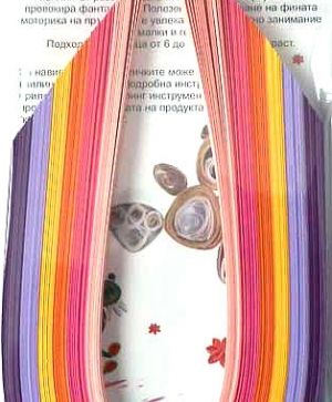 Quilling paper 6mm - mix, pink, lilac 6D-6